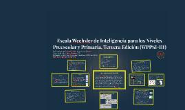 Escala Wechsler de Inteligencia para los Niveles Preescolar