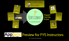 AppSync Preview for FYS Instructors