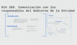 Copy of NIA 260. Comunicación con los responsables del Gobierno de l