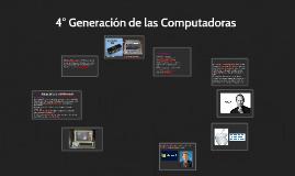 4° Generación de las Computadoras