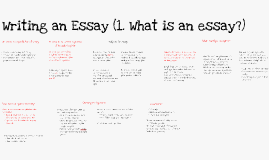 Copy of What is an essay?