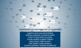 EMERGENCIAS MEDICAS EN LA COMPAÑIA