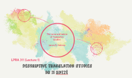 Descriptive translation studies