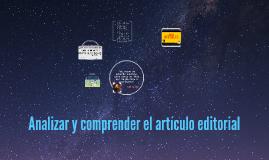 Analizar y comprender el artículo editorial