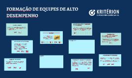 FORMAÇÃO DE EQUIPES DE ALTO DESEMPENHO