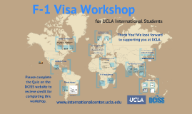 2016 iSTART: F-1 Visa Workshop