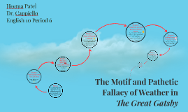 Copy of The Motif and Pathetic Fallacy of Weather in