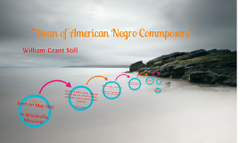 "Copy of ""Dean of American Negro Composers"""