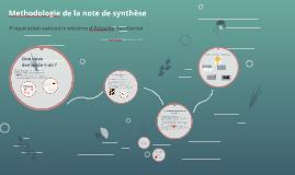 Copy of Methodologie de la note de synthèse