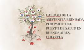 CALIDAD DE LA ASISTENCIA BRINDADA POR PARTE DEL PUESTO DE SA