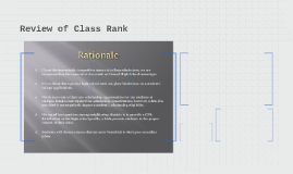 Review of Class Rank