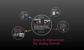 Dress In Afghanistan