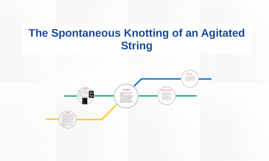 The Spontaneous Knotting of an Agitated String