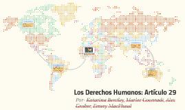 Los Derechos Humanos: Articulo 29
