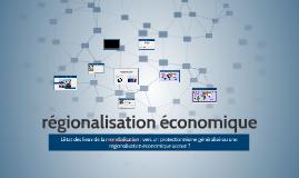 régionalisation économique