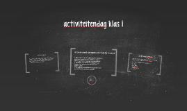 activiteitendag klas 1