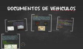 DOCUMENTOS DE VEHICULOS