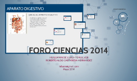 Copy of FORO CIENCIAS 2014