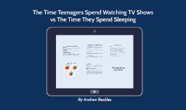 The Time Teenagers Spend Watching TV Shows vs The Time They Spend Sleeping
