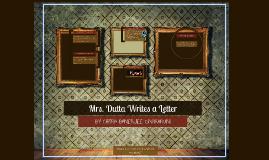 mrs dutta writes a letter