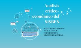 Análisis crítico-económico del SISBEN