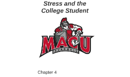 Stress and the College Student
