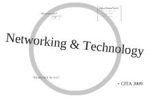 CITA: Network & Technology
