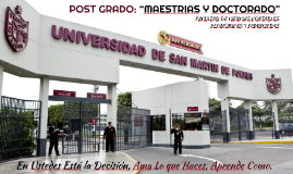 "POST GRADO:""MAESTRIAS Y DOCTORADO"""
