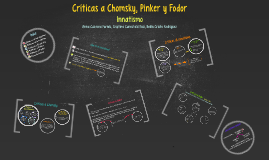 Criticas a Chomsky, Pinker y Fodor