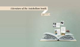 Literature of the Antebellum South