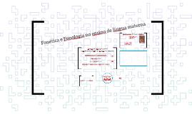 Fonética e Fonologia no ensino de língua materna: o (des)foco didático