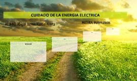 CUIDADO DE LA ENERGIA ELECTRICA