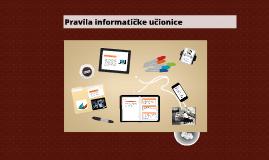 Copy of Pravila informatičke učionice