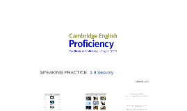 PROFICIENCY (CPE) 1.9 Security