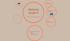 Welcome Grade 4!