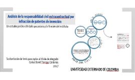 Análisis de la responsabilidad civil extracontractual por infracción de patentes de invención: un estudio jurídico del daño pecuniario y la función del instituto