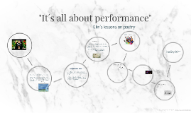 It´s all about performance