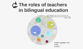 The roles of teachers in bilingual Education