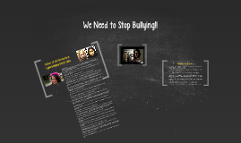 Copy of We Need to Stop Bullying!!