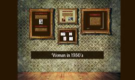 Women in 1950's