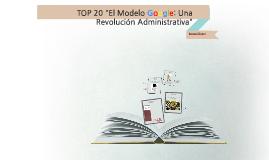 El Modelo Google: Una Revolucion Administrativa