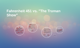 fahrenheit 451 comparite to the truman 1 give three examples of support from the truman show for the following statement: the societies in fahrenheit 451 and the truman show have created repressive restrictions upon themselves.
