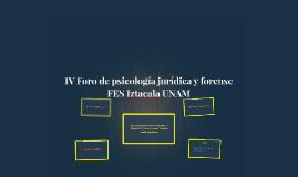 IV Foro de psicología jurídica y forense
