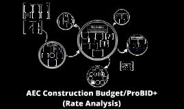 AEC Construction Budget/ProBID+: A construction rate analysis and budgeting program