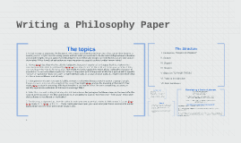 Copy of Writing a Philosophy Paper