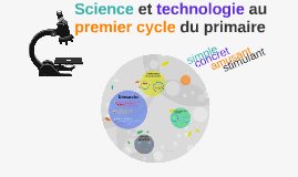 Science et technologie au premier cycle du primaire