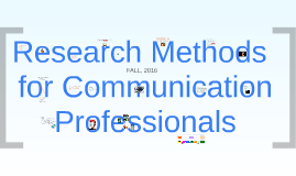 CCT308 Week 1 - Introduction to Research Methods