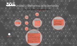 Unidad 2: Elementos de la demanda