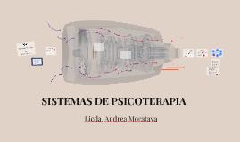 SISTEMAS DE PSICOTERAPIA