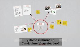 ¿Cómo elaborar un Currículum Vitae efectivo?